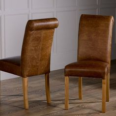 Baby Roll Back Leather Dining Chair-  Modish Living Dining Chairs