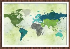 I'm giving away a custom travel world map. Perfect for plotting your past travels or marking your dream destinations.