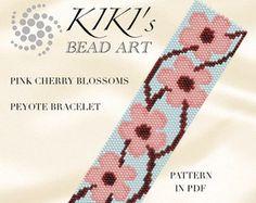 Pattern peyote bracelet Celtic knots peyote by KikisBeadArts