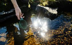 Clean, drinkable water straight from a creek in Vindelfjällen. Backpacking or hiking in the Scandinavian Mountains means miles-wide dramatic views and freshwater clean enough to drink straight from the ground. Photo: Moa Karlberg/imagebank.sweden.se