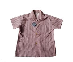 FRENCH VINTAGE / 50's / boys shirt / small geometric patterns / cotton / new old stock / size 5/6 years