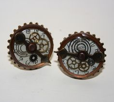 Steampunk cufflinks £15.00