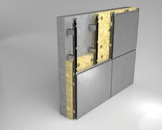 Gallery of Ventilated Curtain Wall - Europanel® - 10 Cladding, Bookends, Locker Storage, Curtains, Cool Stuff, Gallery, Wall, Projects, Design