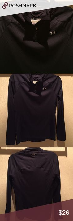 Under Armor 3/4 Zip-Up Semi-fitted Under Armor lightweight zip up. Long sleeved with a 3/4 zipper. Small zipper on back right hip to fit keys or money. 100% polyester. Medium. Perfect for both warm and cool weather! Under Armour Tops Sweatshirts & Hoodies