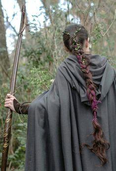 Elven Ranger Braids by ArwendeLuhtiene # viking Braids aesthetic Elven Hairstyles, Cool Braid Hairstyles, African Hairstyles, Pretty Hairstyles, Character Inspiration, Hair Inspiration, Fae Aesthetic, Aesthetic Vintage, Viking Braids