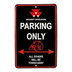 03950 Massey Ferguson Parking Sign