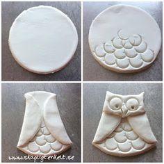 Skapligt Enkelt: Ugglor av lera Diy For Kids, Crafts For Kids, Diy And Crafts, Arts And Crafts, Salt Dough Ornaments, Diy Clay, Ceramic Pottery, Projects To Try, Blogg