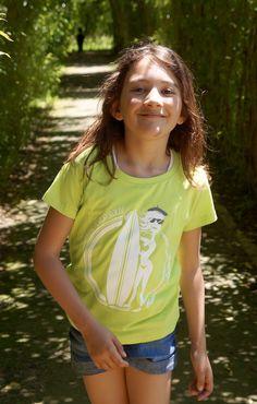 """T-Shirt """"Gascounet de Bordeaux"""", Enfant, vert pomme"""