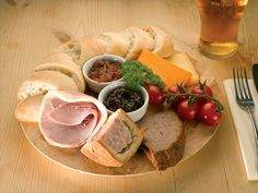 ploughman's lunch.