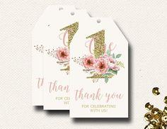 Favor Tags Girls Birthday Boho Chic Printable PDF by DesignOnPaper