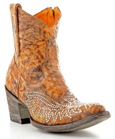 Womens Old Gringo Eagle Swarovski Zipper Boots