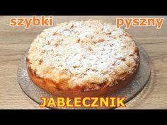 Szybkie i pyszne ciasto z jabłkami bez miksera 👌 wystarczą 3 jabłka i składniki, które są w domu 👍 - YouTube Apple Pie, Banana Bread, French Toast, Muffin, Sweets, Breakfast, Youtube, Casseroles, Food
