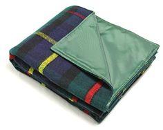 The Tartan Blanket Co Buchanan Natural Couverture de Genou en Laine recycl/ée