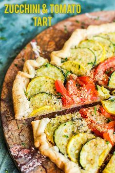 Lower Excess Fat Rooster Recipes That Basically Prime My Zucchini And Tomato Tart Recipe Features Fresh Zucchini, Tomatoes, And Parmesan Cheese. This Makes A Great Summer Lunch Or An Impressive Brunch Recipe. Present With A Simple Side Salad And Enjoy Tart Recipes, Brunch Recipes, Breakfast Recipes, Cooking Recipes, Summer Recipes, Zucchini Tart, Zucchini Tomato, Vegetable Pie, Vegetable Recipes