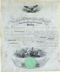 Abraham Lincoln Signed Document