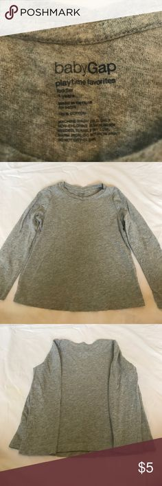 Girls GAP top - gray (size 4) In great condition, barely worn. Comes from a smoke free / pet free home. GAP Shirts & Tops Tees - Long Sleeve
