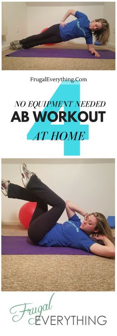 Awesome ab workout for FREE.  You can do these no equipment ab exercises anywhere.