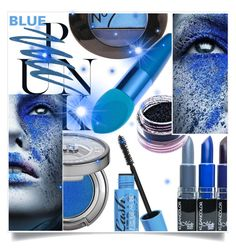 """""""Blue Punk"""" by captainsilly ❤ liked on Polyvore featuring beauty, Urban Decay, Barry M and Medusa's Makeup"""