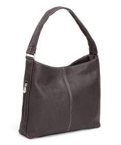 Take a look at this Café Side-Zip Tote by Le Donne on #zulily today!