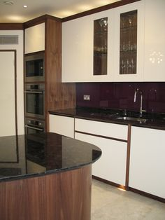 Another view with the above pelmet lighting on.  Take a look at our website for more inspirational kitchens.