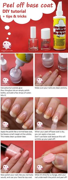 This is seriously the easiest polish removal trick you'll find: peel off base coat! It's so easy to make one for yourself for less than a dollar per bottle. I have been using a peel off base coat non-stop for over a year now, so I thought it was about time that I shared my experiences and tricks with you! Find more tips & tricks on www.PiggieLuv.com