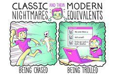 Pesadelos clássicos e seus equivalentes modernos - http://on.fb.me/YCXcpi