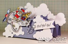 Fun Fold Christmas card High Hopes Stamps by Anna Wight