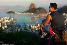 """Tourists rushed to Brazil to take pictures with """"Brazil Cliff"""""""