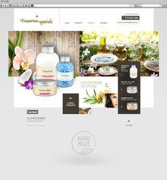 design for natural cosmetics manufacturer Emporium.  // projekt dla producenta kosmetyków naturalnych Emporium. Siłą koncepcji jest zdecydowanie    przejrzystość. Delikatne kolory stanowią tło dla produktów.