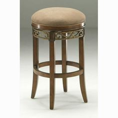 Carmel Murano Accent and Cosmo Sepia Backless Barstool with Dakota Toffee and 30-Inch High Seat