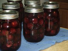Canning Granny: Birthday Gifts and Canning Brandied Cherries