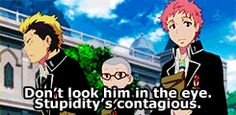 Blue Exorcist ~~ The Kyoto Kids comment on Rin.