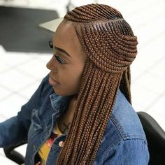 Long Box Braids: 67 Hairstyles To Upgrade Your Box Braids - Hairstyles Trends French Braid Hairstyles, Short Black Hairstyles, African Braids Hairstyles, African American Hairstyles, Messy Hairstyles, Hairstyles 2018, Hairstyle Ideas, Highlighted Hairstyles, Japanese Hairstyles