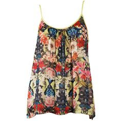 Multicolor Poe Floral Canopy Tank (€130) ❤ liked on Polyvore featuring tops, shirts, tank tops, tanks, blusas, loose fitting tanks, colorful shirts, floral shirt, low back shirt and loose tank