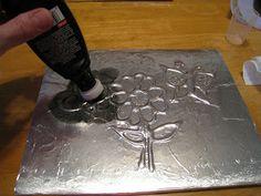 DIY: Foil Art Drawings
