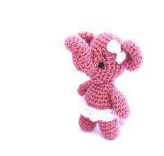 $23.86 #Ballerina #Elephant #Miniature #Doll, #Crochet #Little #Elephant, #Ballet #Dancer, #Gift #for #Ballerinas, #Elephant Ballerina #Figurine #Soft, #Crochet #gift