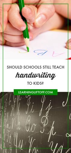 Most schools no longer teach handwriting to kids, with only the lowest grades focused on legible print. And cursive has been entirely phased out. But experts say there are benefits to learning how to print early in life. Teaching Handwriting, Cursive Handwriting, Early Learning, Kids Learning, Student Success, What Inspires You, Common Core Standards, Elementary Education, Parenting Quotes