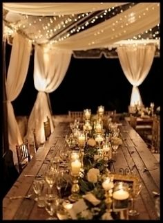 Gold candles on beautiful table