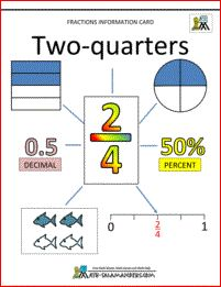 Two quarters fraction information sheet