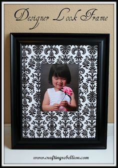 Fast and easy damask frame,   diy, crafts