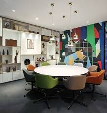 Image result for meeting rooms Cafe Chairs, All White, Small Spaces, Concrete, Modern, Table, Inspiration, Furniture, Design