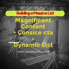 Great Content and CTA makes Building a List easier!