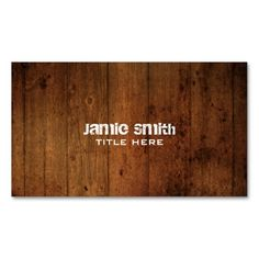 Grunge Wood Business Card. This is a fully customizable business card and available on several paper types for your needs. You can upload your own image or use the image as is. Just click this template to get started!