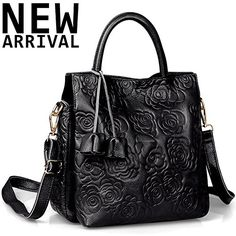 New Trending Cross Body Bags: New Arrival Floral Embossed Handbags Crossbody Bags for Women Leather Satchel Purse by JackChris,WB508 (Black). New Arrival Floral Embossed Handbags Crossbody Bags for Women Leather Satchel Purse by JackChris,WB508 (Black)   Special Offer: $59.99      244 Reviews Material: JackChris handbag, WB508, choosing top layer leather, owing characteristics of irregular wrinkles and chic texture...