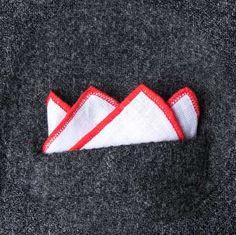 How To Fold the Stairs Pocket Square | Ties.com Pocket Square Folds, Pocket Square Styles, Pocket Squares, Carol Kirkwood, Mens Attire, Tie Knots, Wedding Colors, Mens Fashion, Ties