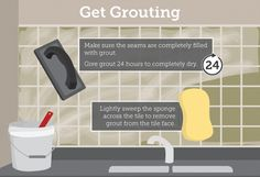 Grouting Your Backsplash Tiles