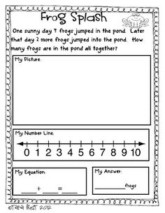 FREEBIE Common Core Aligned Story Problems.  Show answers in 4 ways!