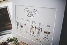 Hand Illustrated Order of The Day Sign | Chateau De Clerbise, Bordeaux, France | Destination Wedding | Lilac Colour Scheme | Art Couture Wedding Dress | Frankee Victoria Photography | http://www.rockmywedding.co.uk/caitlin-nick/