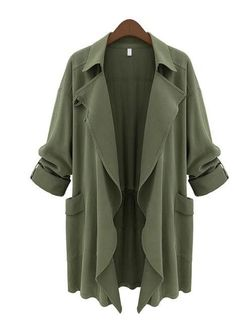 100% Brand New. Material: Polyester 3 Colors available: Army Green, Deep Green, Dark Blue. Style: Cardigan Package Content: 1 x Long Sleeve Trench Coat 5 Sizes available: XL, XXL, XXXL, XXXXL, XXXXXL.