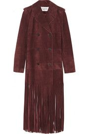 Valentino Fringed suede trench coat